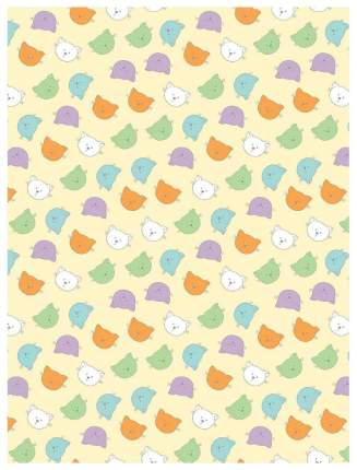 Плед-покрывало Baby Nice Разноцветные кошки 150x200