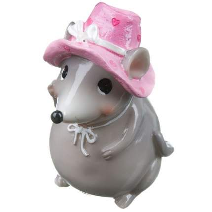 н.г.символ года мышка в шляпке фигурка  6,5*9*см