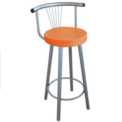 Мягкий барный стул для кухни Амис Барный Стиль Оранжевый