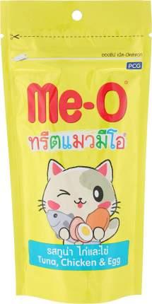 Лакомство для кошек Ме-О, зубочистики со вкусом тунца, курицы и яйца, 50г