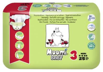 Подгузники детские Muumi Baby, размер Midi (5-8 кг), 25 штук