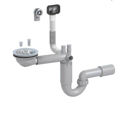 Сифон для кухонной мойки Prevex PL1-D9C45-SANT-01