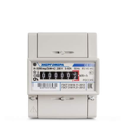 Счетчик электроэнергии Энергомера Ce101 R5 145 М6 Счетчик Эл/Эн 1Ф 1Т 5(60)А, 6-Ти
