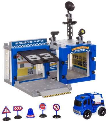 Конструктор Yako Toys полицейский участок с машиной, с отверткой и микрофоном 67 деталей
