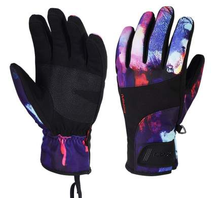 Зимние перчатки для сноуборда Boodun Oil Painting, L