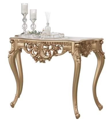 Консоль Мэри-Мебель КН-01, цвет золото, 122х48х82 см.
