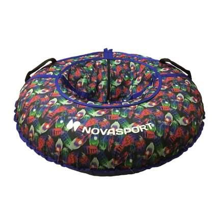 Тюбинг NovaSport 110 см без камеры CH030.110 синий/расноцветные перья