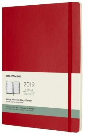 """Еженедельник датированный """"Classic Soft"""" XL на 2019 год, 144 стр., красный"""