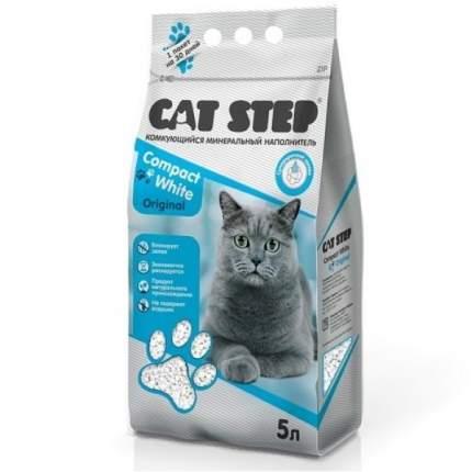 Комкующийся наполнитель для кошек Cat Step Compact White бентонитовый, 4.2 кг, 5 л
