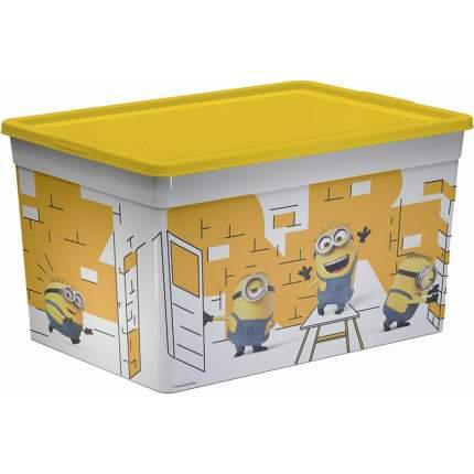 Ящик для игрушек Полимербыт Миньоны, 16 литров, в ассортименте