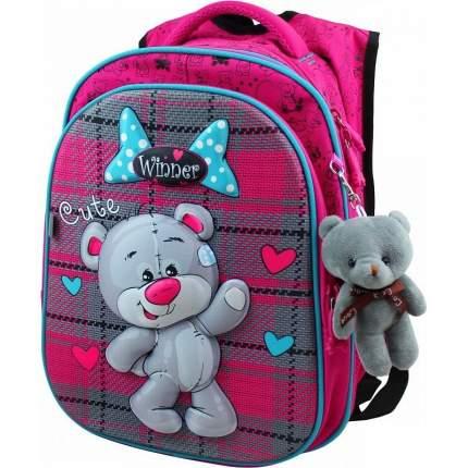 Школьный рюкзак Winner 8066 + мишка