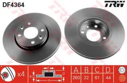 Тормозной диск TRW/Lucas DF4364