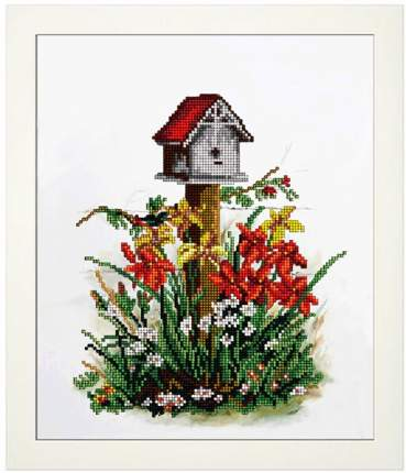 Набор для вышивания ювелирным бисером Краса и творчество 10816 Цветы 7 20,7х24,9 см