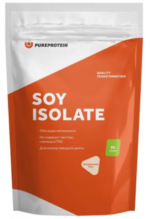 Протеин PureProtein Soy Isolate 900 г натуральный