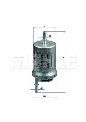 Фильтр топливный Mahle/Knecht KL1766D