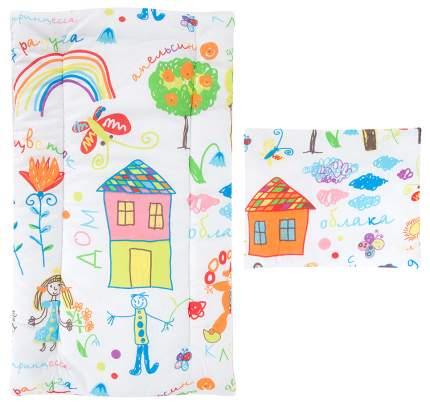 Комплект в коляску (матрасик+подушка) Leader Kids «Каляки-маляки» GL000742175, бязь, Белый
