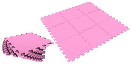 Мягкий коврик-пазл Eco Cover Розовый 9 деталей 33х33 см