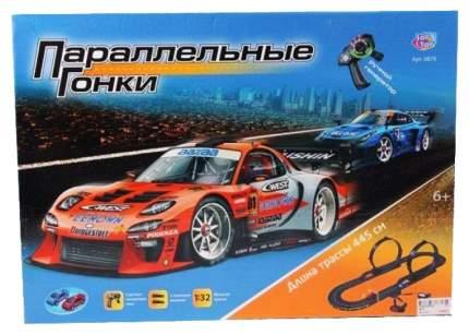 Автотрек Joy Toy Параллельные гонки 445 см с ручным генератором 0870