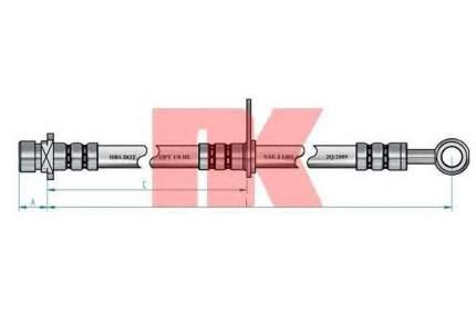 Тормозной шланг Nk 852682