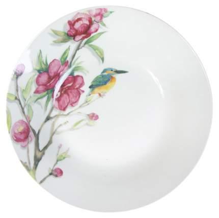 Тарелка десертная Коралл Магнолия YQ1716/930472 Белый, зеленый, розовый