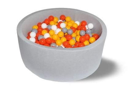 Сухой игровой бассейн Лимонад 40см с 200 шарами: белый, оранжевый, серый, желтый