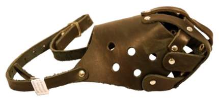Намордник ГеоГазТехнология для собак кожа №4 полуглухой с перемычкой (стаф)