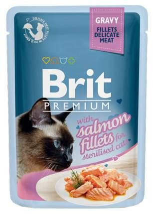 Влажный корм для кошек Brit Premium, лосось, 24шт, 85г