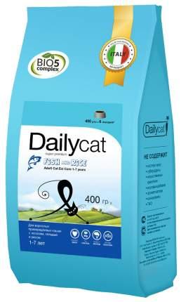 Сухой корм для кошек Dailycat Adult, сельдь, лосось и рис, 0,4кг