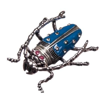 Брошь Moon Paris жук титан со стразами (синий)