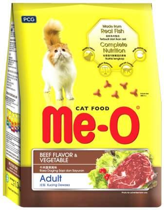 Сухой корм для кошек Me-O Adult, говядина с овощами, 1,2кг