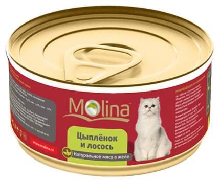 Консервы для кошек Molina, цыпленок, 12шт, 80г