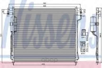 Радиатор кондиционера Nissens 94879