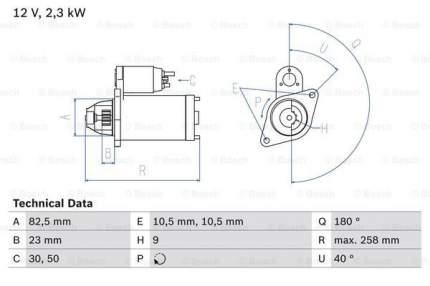 Стартер Bosch 0 986 019 820