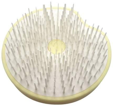 Расческа Janeke Пластиковая компактная щетка для волос желтая
