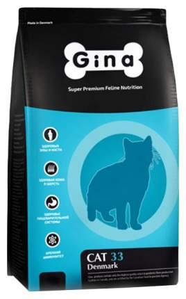 Сухой корм для кошек GINA DENMARK CAT-33, для активных и выставочных, курица, ягненок, 3кг
