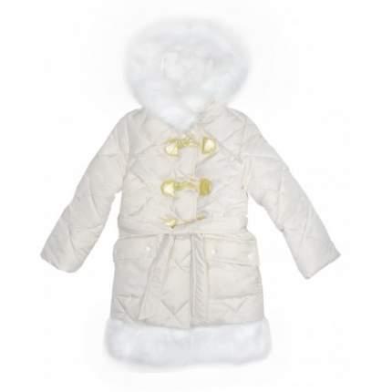Пальто зимнее белое для девочки 465, р.134