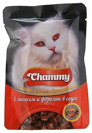 Влажный корм для кошек Chammy лосось и форель в соусе, 85 г