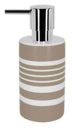 Дозатор для жидкого мыла Spirella Tube-Stripes Коричневая полоска