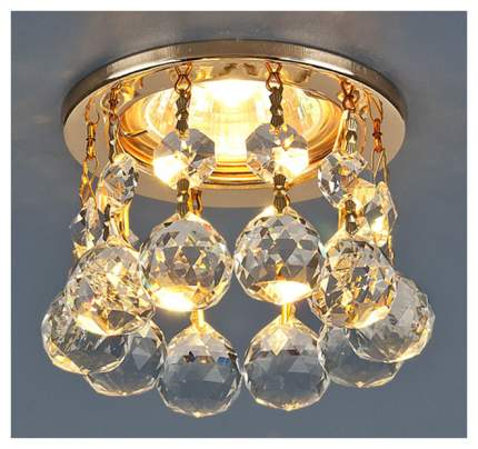 Встраиваемый светильник Elektrostandard 2051 MR16 GD/CL золото/прозрачный