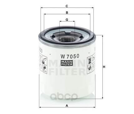 Фильтр масляный MANN-FILTER W7050