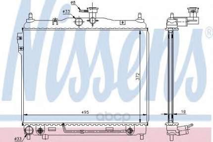 Радиатор охлаждения двигателя Nissens 67496