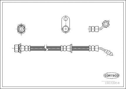 Шланг тормозной системы CORTECO 19033054