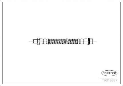 Шланг тормозной CORTECO 19018897