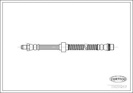 Шланг тормозной CORTECO 19034297