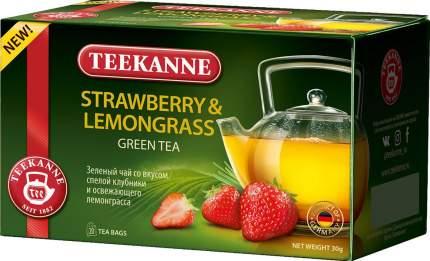 Чай Teekanne клубника-лемонграсс  зеленый 20 пакетиков