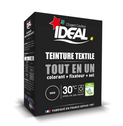 Краска для одежды и тканей Ideal MINI Все в Одном черная, 230 г