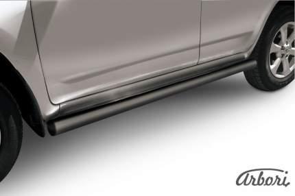 Защита порогов d76 труба Arbori черн. для Toyota RAV4 2010-2014