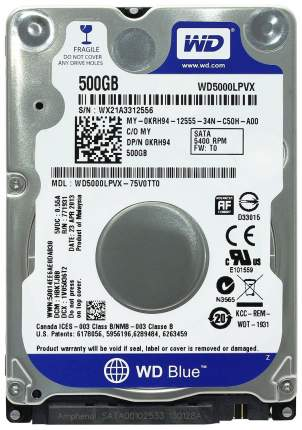 Внутренний жесткий диск Western Digital 500GB (WD5000LPVX)