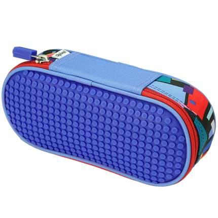 Пенал школьный пиксельный Upixel Super class pencil case WY-B012 Синий принт