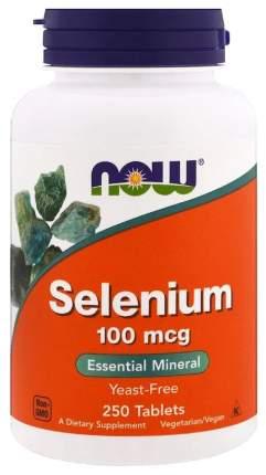 Селен NOW Selenium 250 табл. без вкуса